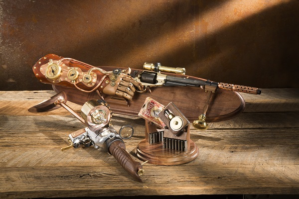 Features steampunk guns loaned by John Belli