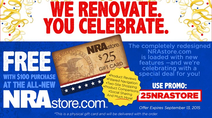 $25 Gift Card With Order of $100 or More on NRAstore.com