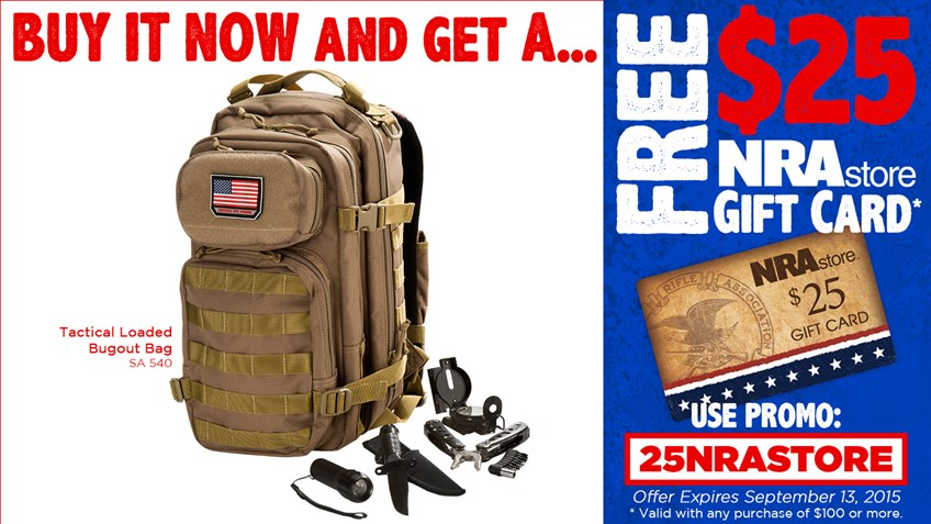 Be Ready For Anything With An NRAstore Bugout Bag