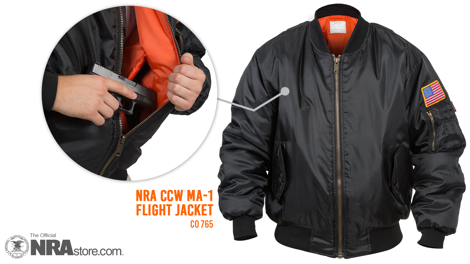 NRA Blog | The NRA Flight Jacket Is Your New Favorite CCW Garment