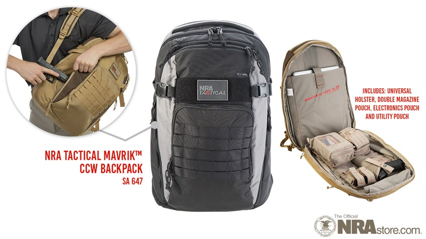NRA Tactical mavriK Backpack Meets All Your CCW Needs