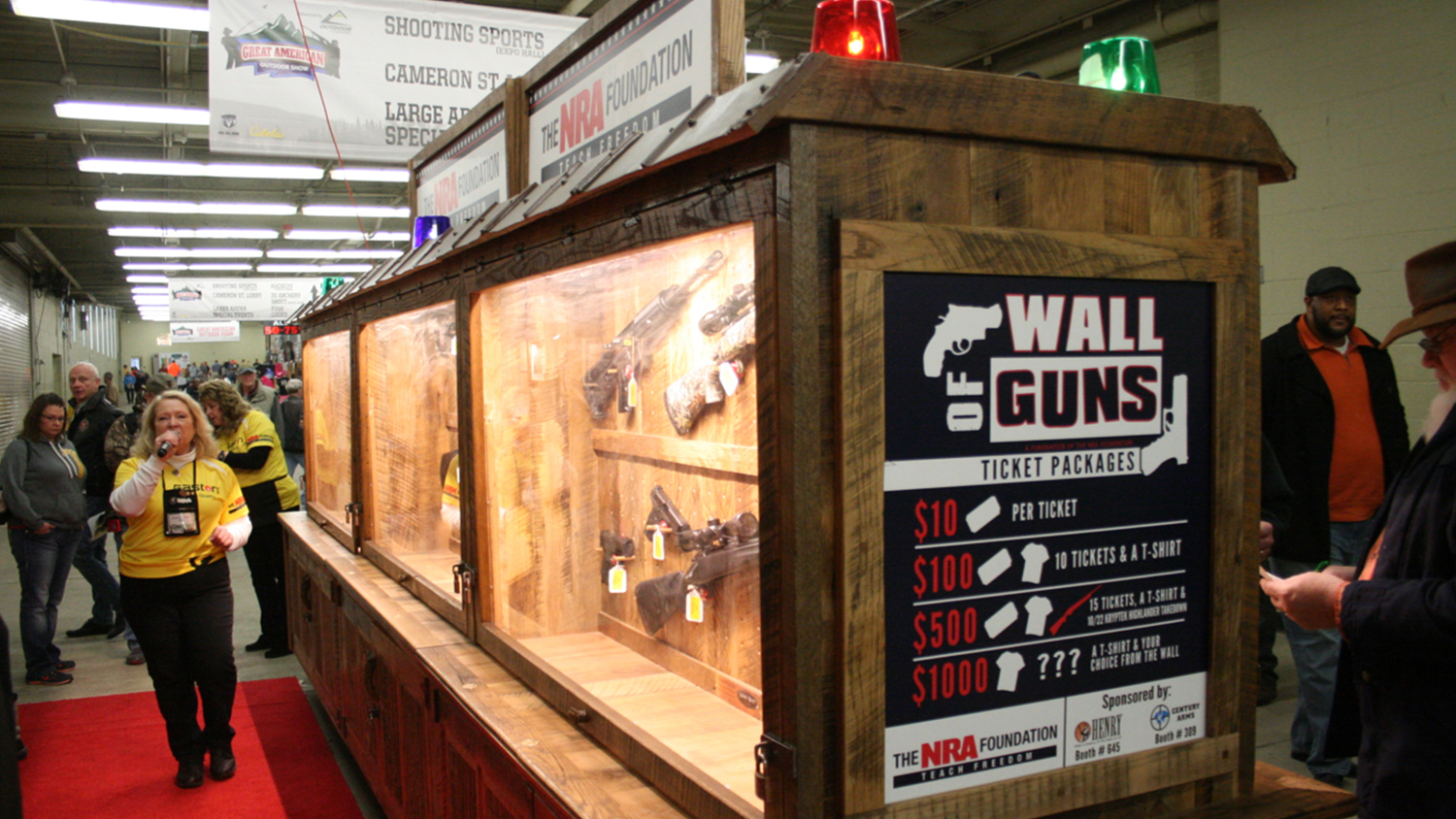 What is on the Wall of Guns?