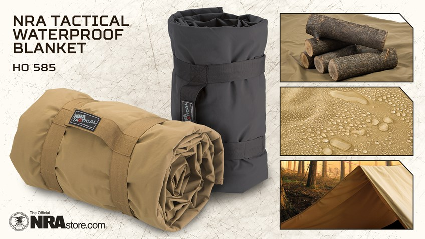 NRA Store Product Highlight: Tactical Waterproof Blanket