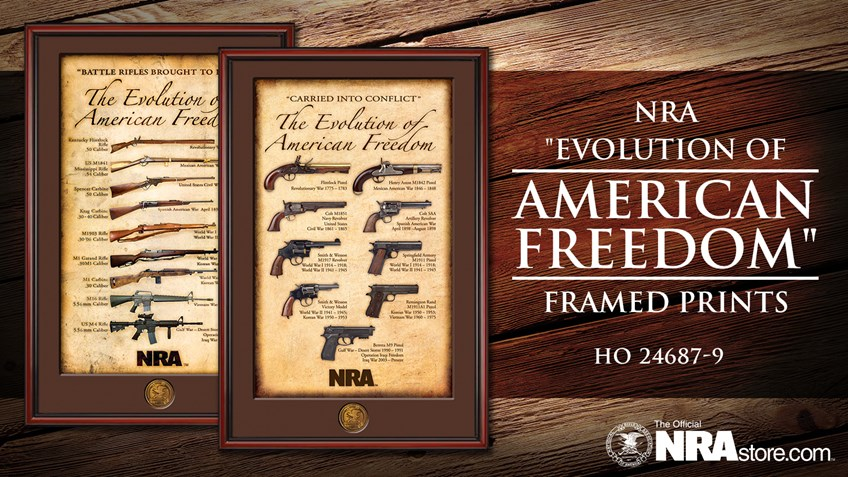 """NRA Product Highlight: """"Evolution of American Freedom"""" Framed Prints"""