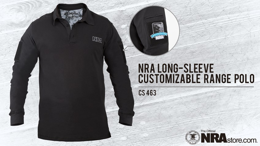 NRA Store Product Highlight: Long Sleeve Customizable Range Polo