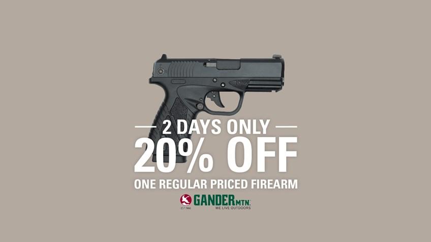 Gander Mountain Offers 20% off Regular Priced Firearm