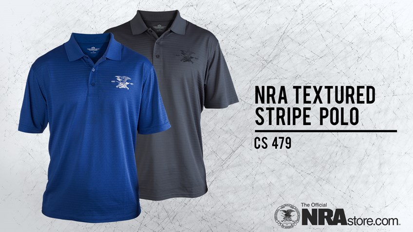 NRAstore Product Highlight: NRA Textured Stripe Polo