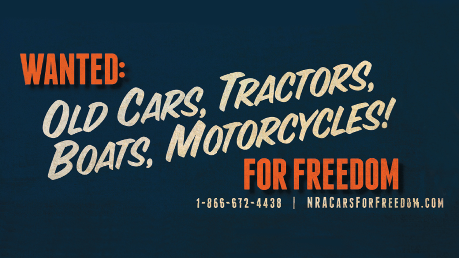 Wanted: Cars for Freedom