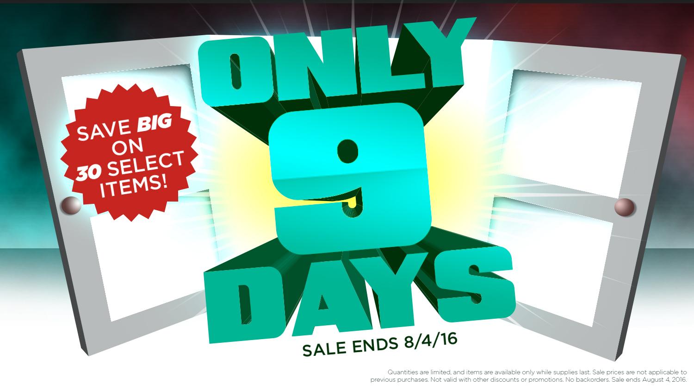 Nine Days, Thirty Items, One Amazing Sale