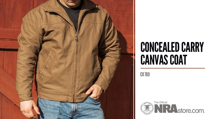 NRAstore Product Highlight: Concealed Carry Canvas Coat