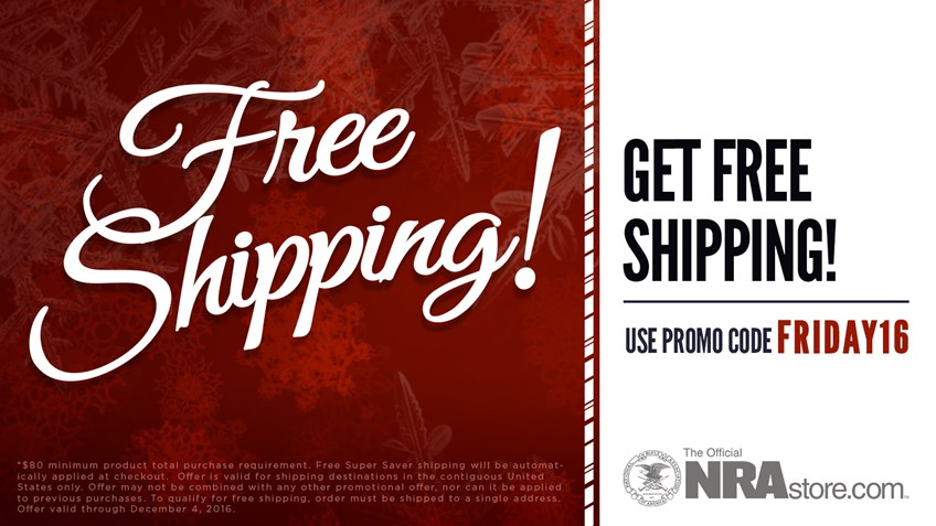 Get Free Shipping from the NRAstore this Black Friday!