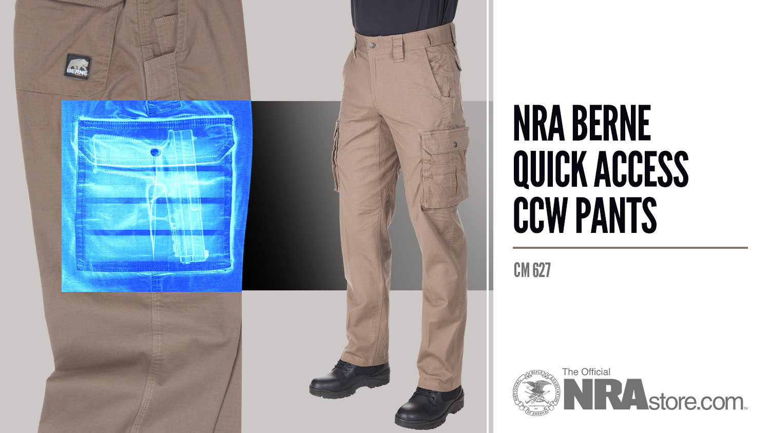 NRAstore Product Highlight: NRA Berne Quick Access CCW Pants