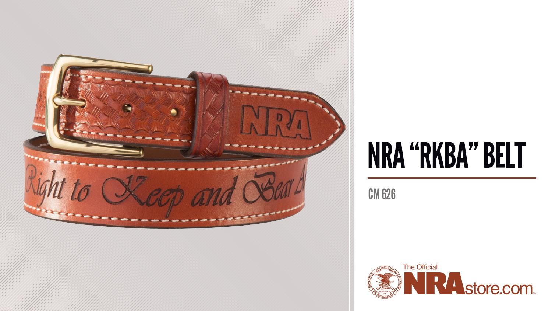 """NRAstore Product Highlight: NRA """"RKBA"""" Belt"""