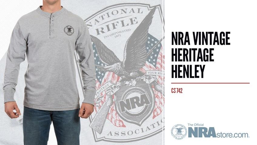 NRAstore Product Highlight: NRA Vintage Heritage Henley