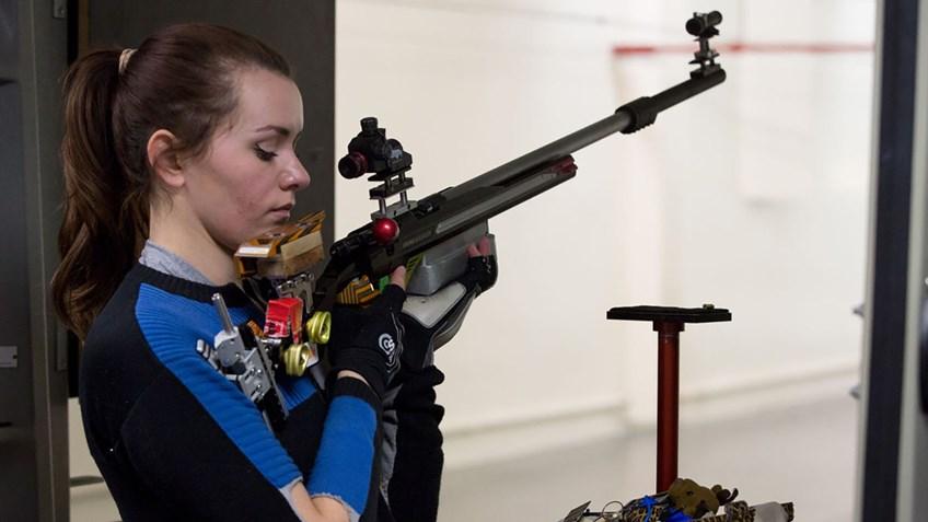 Senior rifle shooter appreciates career, prepares for NCAA Championship