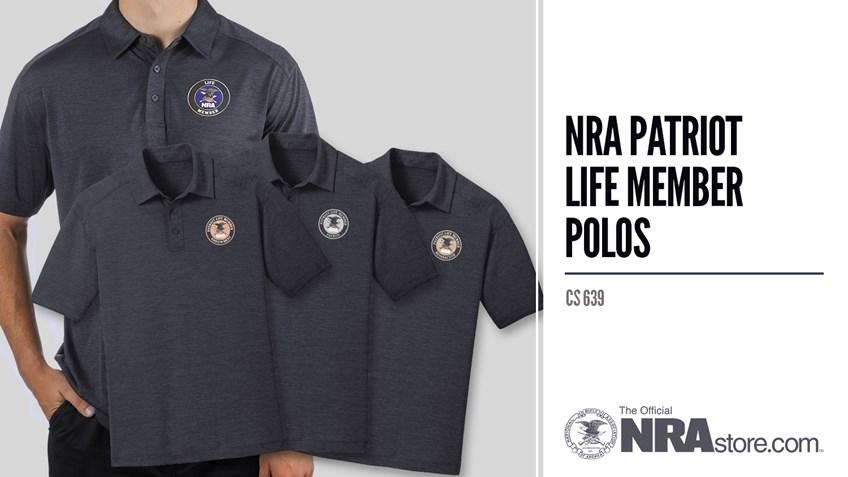 NRAstore Product Highlight: NRA Patriot Life Member Polos