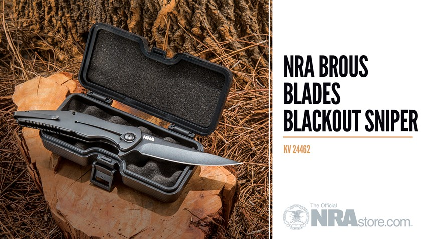 Product Highlight: NRA Brous Blades Blackout Sniper