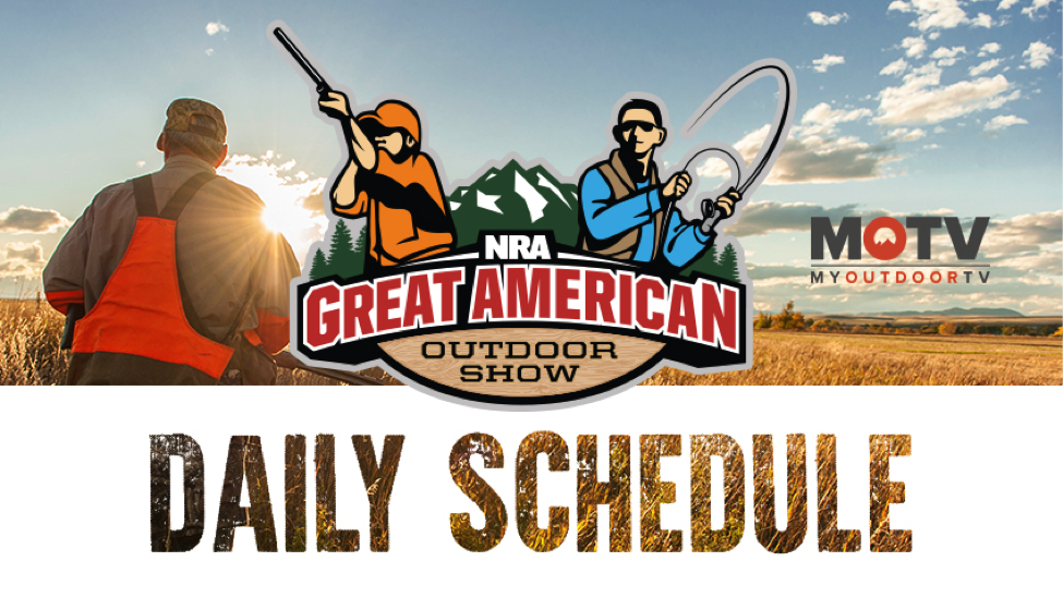 2018 Great American Outdoor Show Daily Schedule - Saturday, February 3
