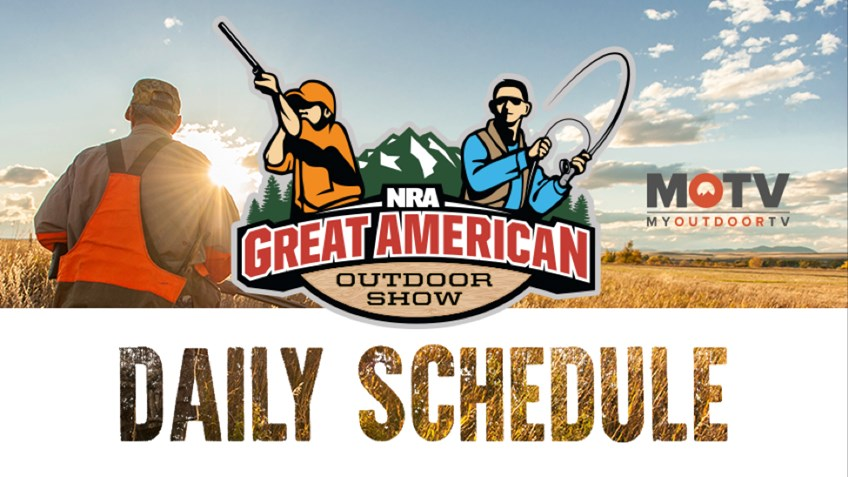 2018 Great American Outdoor Show Daily Schedule - Wednesday, February 7