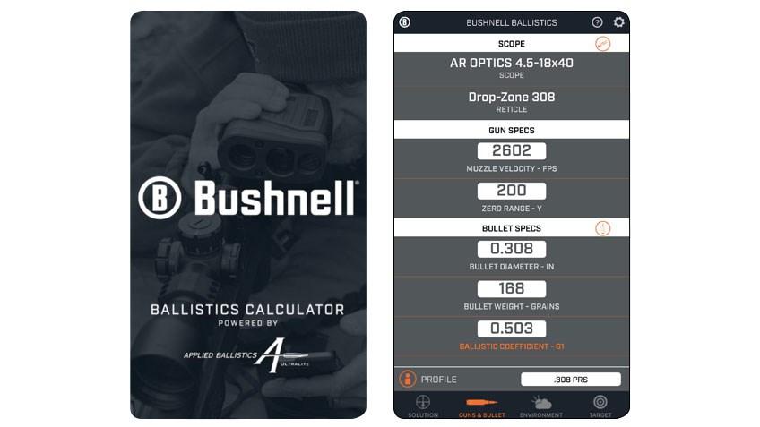 Product Preview: Bushnell Ballistics App