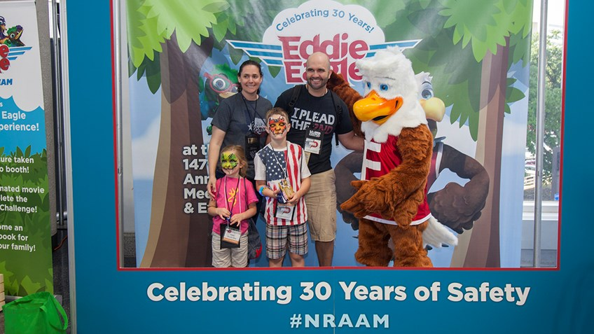 Family Fun in the Eddie Eagle Zone at NRA Annual Meetings