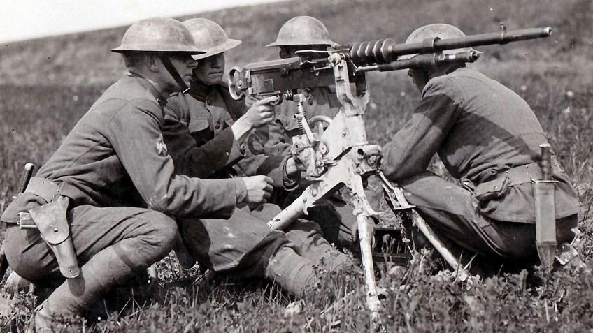 The Hotchkiss Model Of 1914 Heavy Machine Gun