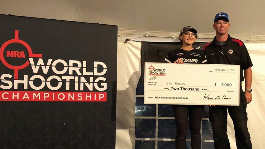 Lena Miculek Wins Third Consecutive NRA World Shooting Championship High Woman Award