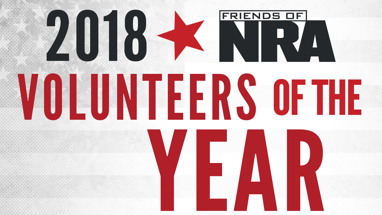 Friends of NRA Announces 2018 Volunteers of the Year
