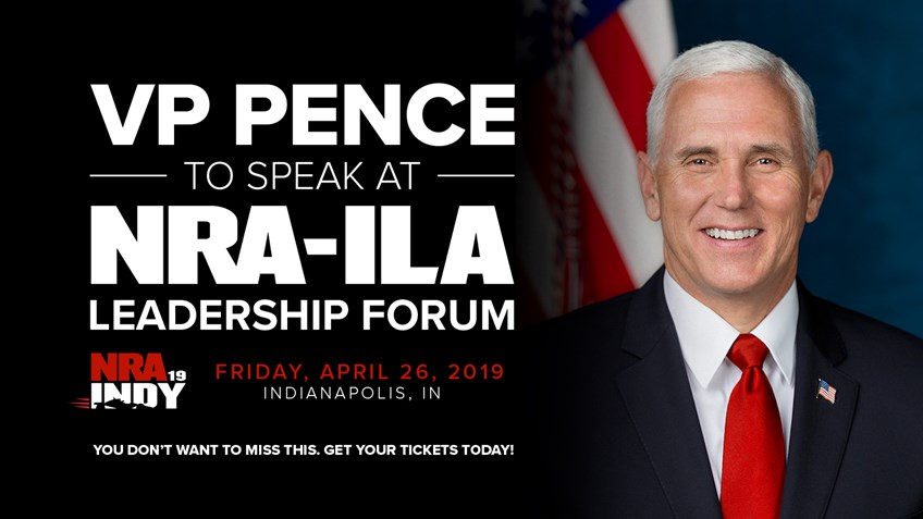 Vice President Pence will Deliver Remarks at the 148th NRA Annual Meetings and Exhibits in Indianapolis, Indiana