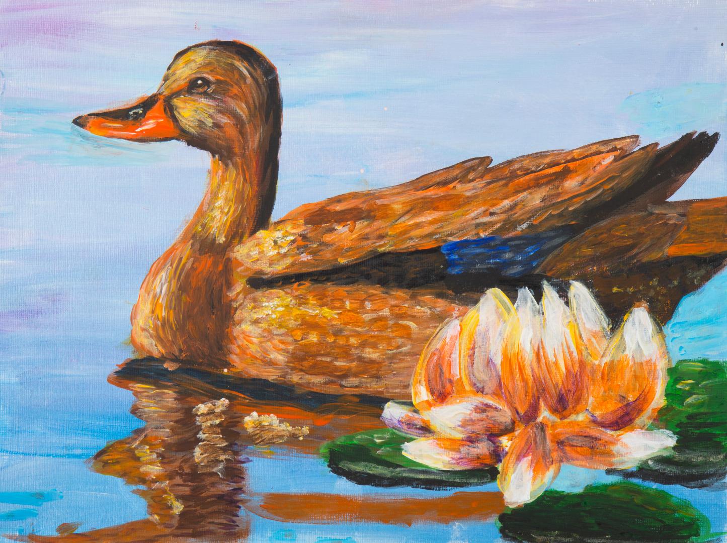 2nd-grader Jayden Cheuk's The Duck in the Pond