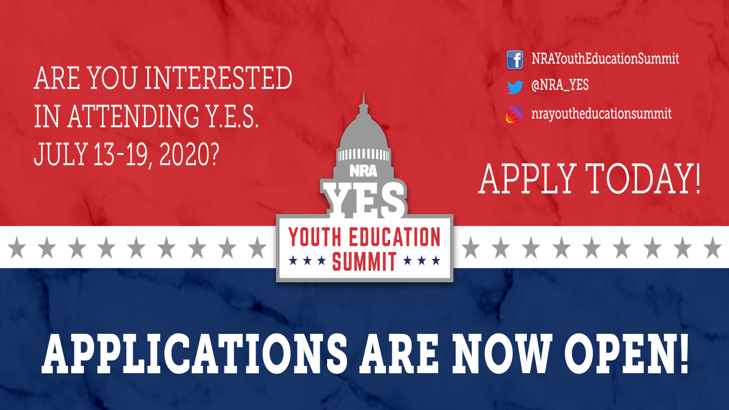 We Want You For Y.E.S. 2020