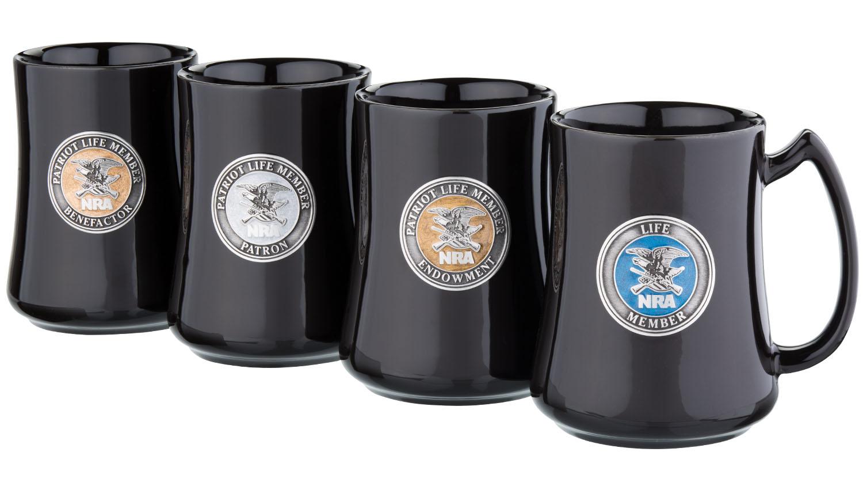 New NRAstore Gear: NRA Patriot Pewter Emblem Mugs