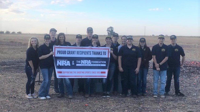 Gridley High School Trap Team Benefits form NRA Foundation Grants