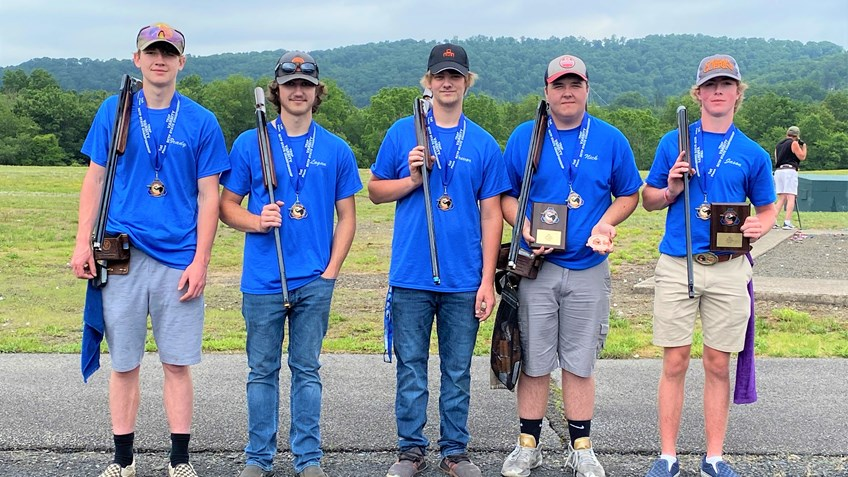 Williams Valley Trap Team Coach Thanks NRA Foundation