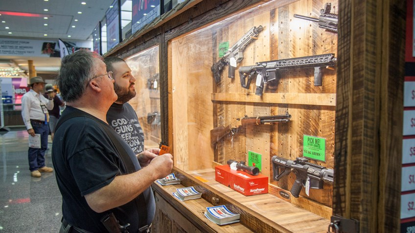 Stop by the Wall of Guns at NRA Annual Meetings & Exhibits