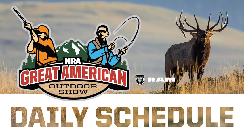 2019 Great American Outdoor Show Daily Schedule - Friday, February 8